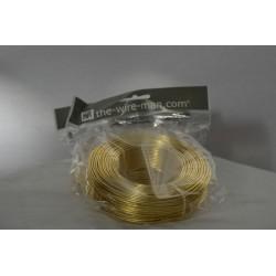 Aluminium Draht gold 2mm