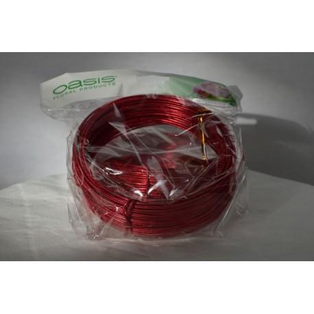 Aluminium Draht rund geprägt rot