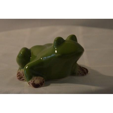 Keramik-Frosch glänzend groß