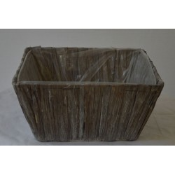Holzoptik Schale groß grau