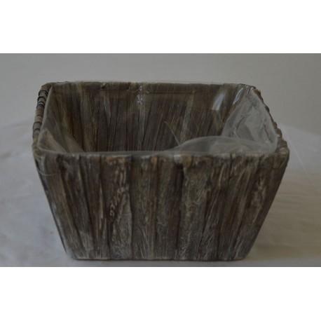 Holzoptik Schale grau klein
