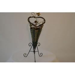 Vase grün/gold
