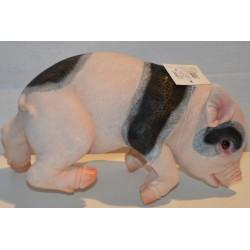 Schweinchen Zaunhänger schwarz-rosa