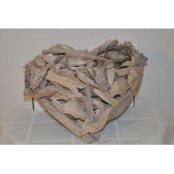 Holz Herz inkl. Glas