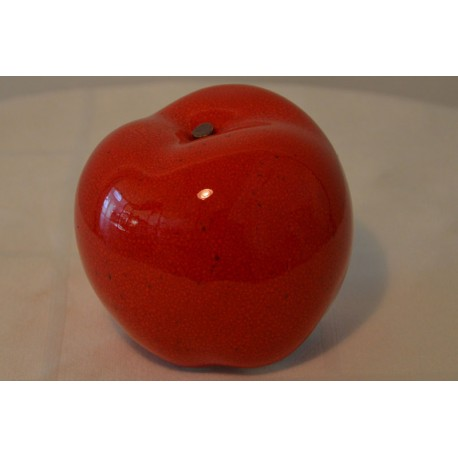 Keramik Apfel rot