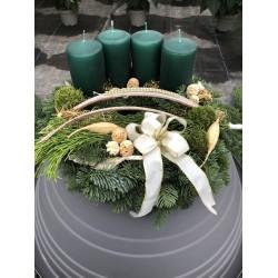 Adventskranz dunkelgrün