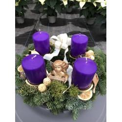 Adventskranz lila